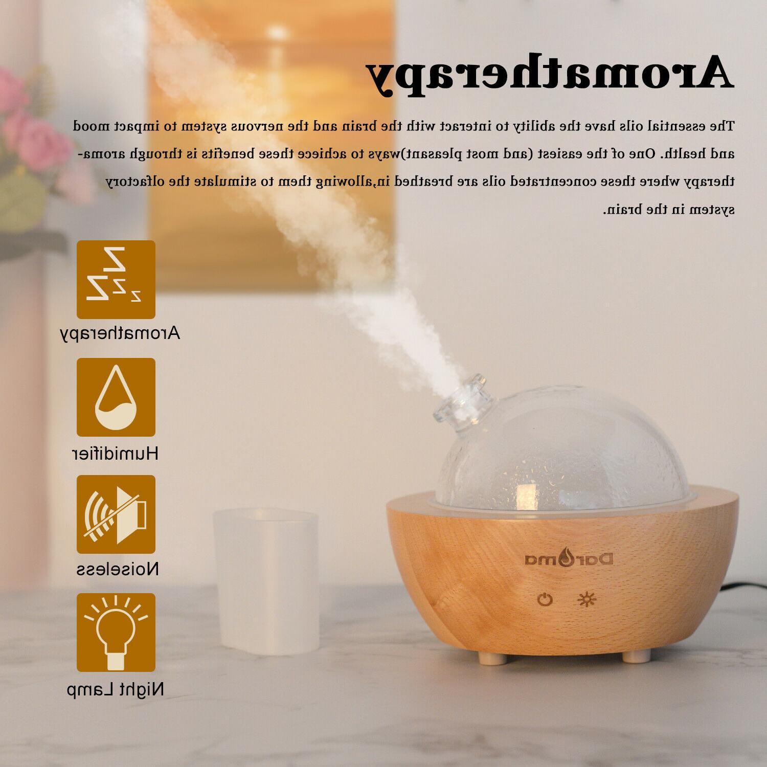 Daroma Oil Diffuser,200ml Real Wood Base,AirRoom Humidifier