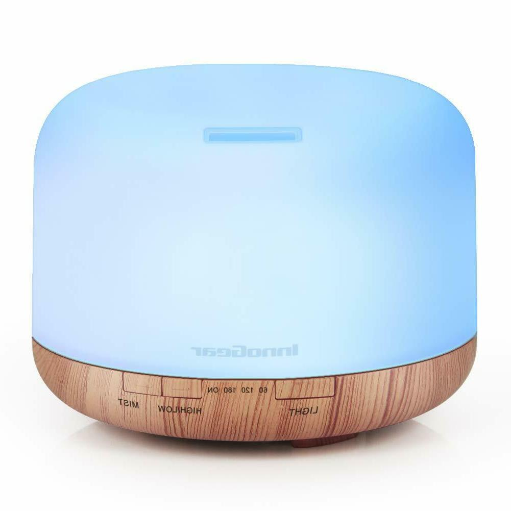 InnoGear Premium Essential Oil Diffuser 5 In 1 Fragrant Mist Humidifier 7 LED Night Light with Auto Shut-off and Timers