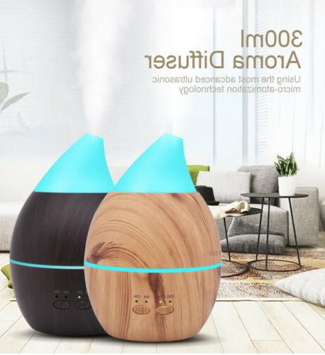 LED Purifier Aromatherapy Air Diffuser Oil Humidifier USA