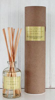 k hall designs Lemon Sage Reed Diffuser Set with Cosmetic Gr