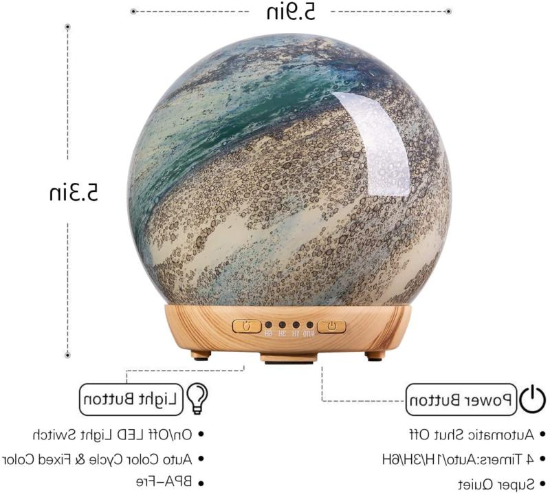 Coosa Moon Diffuser, Humidifier With Timer Wate