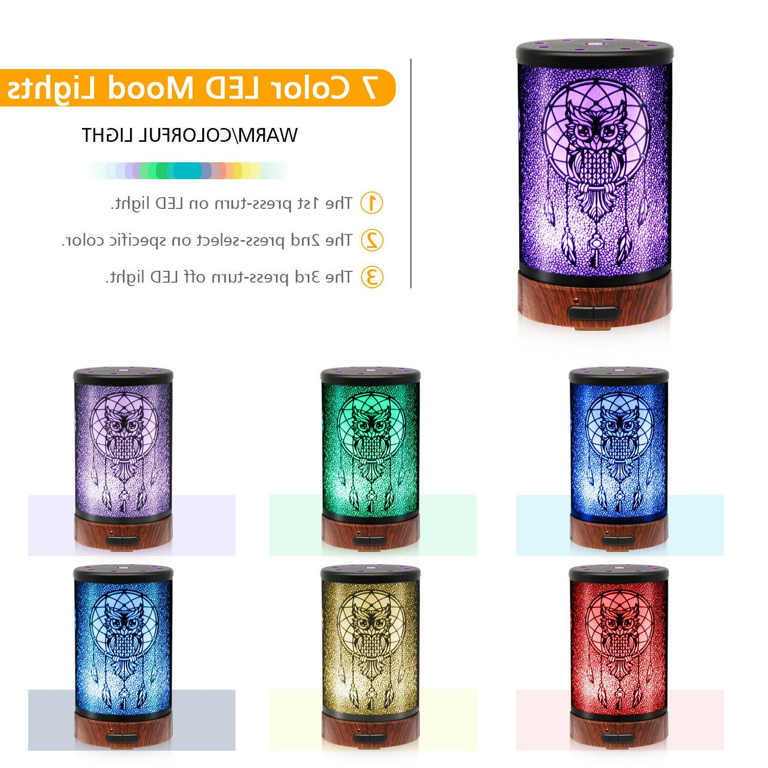 Daroma Owl Essential Oil Diffuser,100ml Metal Aromatherapy Cool Mist