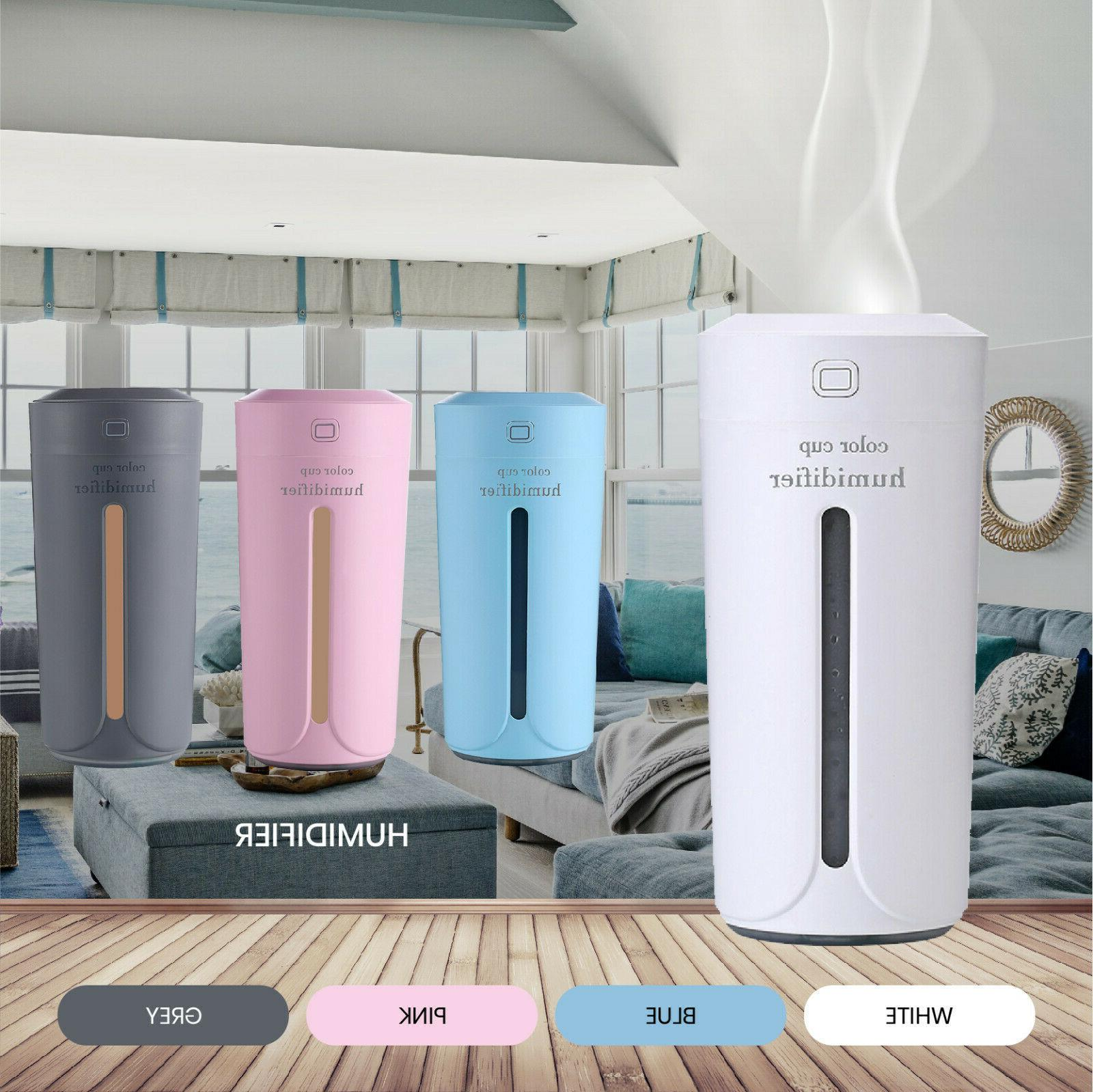 portable led ultrasonic essential oil diffuser aromatherapy