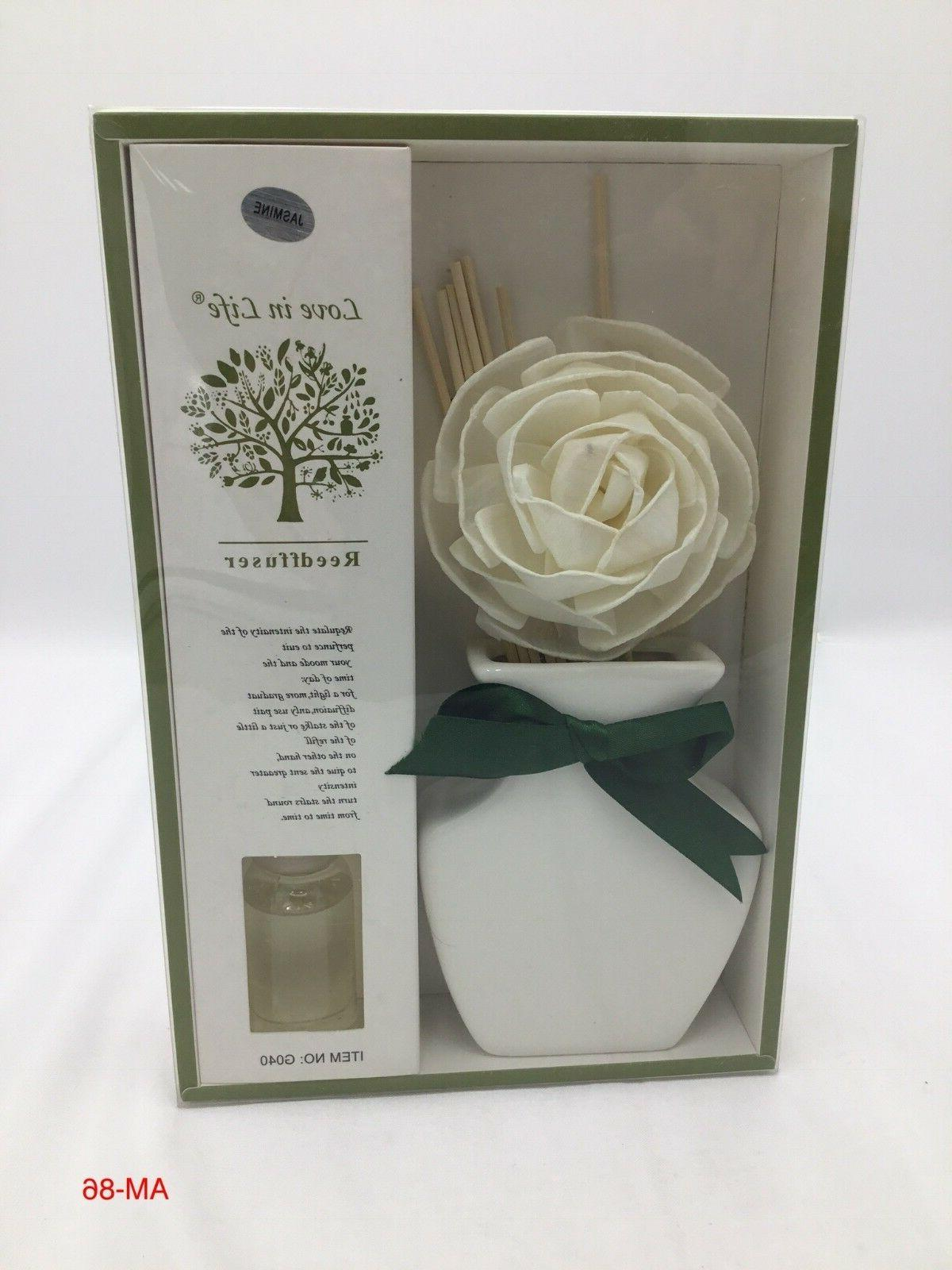 smartsense fragrant reed diffuser set with ceramic