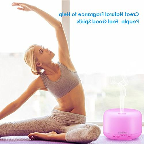 URPOWER Upgraded Essential Oil Aromatherapy Diffusers with Timer Settings Changing and Waterless Shut-Off for Home Living Room Yoga Spa