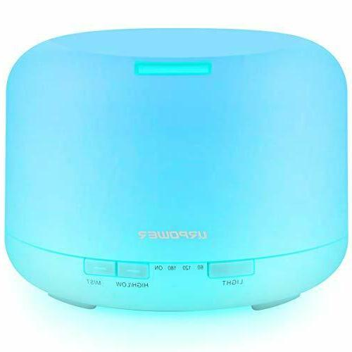 URPOWER Oil Diffuser Humidifier Room Decor Lighting Timer Settings, Color Lamps and Waterless Auto Shut-Off