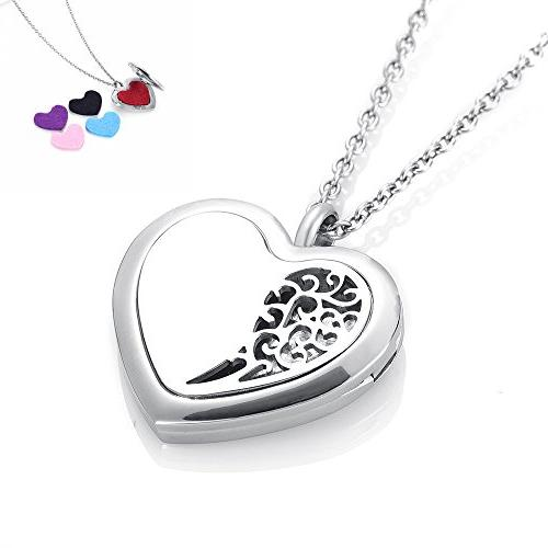 stainless steel diffuser lockets heart