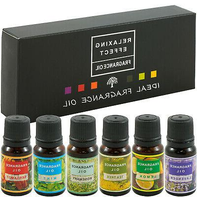 Ultrasonic Humidifier, + 6Pc 10ml Essential Oil