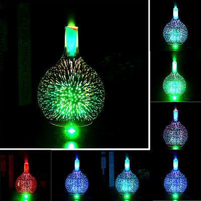 US 3D Glass Firework Colorful LED Oil Diffuser
