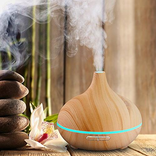 Humidifier Oil Diffuser Office Home Study Wood