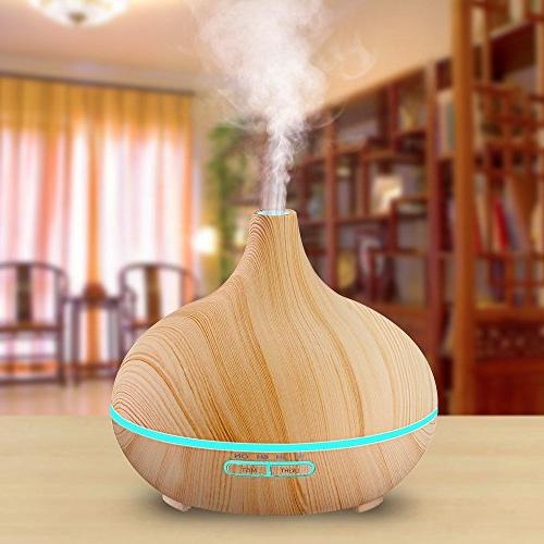 VicTsing Humidifier Ultrasonic Oil Diffuser for Home Bedroom Study Yoga Spa - Wood