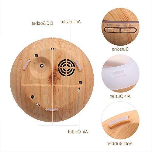 VicTsing Cool Humidifier Oil Office Study Wood Grain