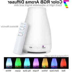LED Air Purifier Humidifier Essential Oil Aroma Diffuser Aro