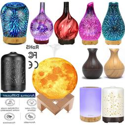 LED Ultrasonic Aroma Diffuser Essential Oil Humidifier Air A