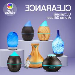 LED Purifier Aromatherapy Ultrasonic Air Diffuser Oil Color