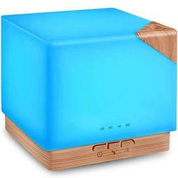 lite wood square aromatherapy essential oil diffuser