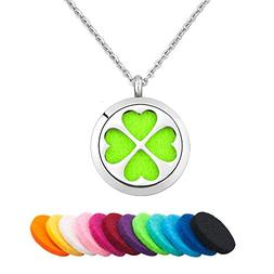 Third Time Charm Lucky Four Leaf Clover Necklace For Essenti