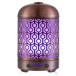 Metal Essential Oil Aromatherapy Diffuser Electric Cool Mist
