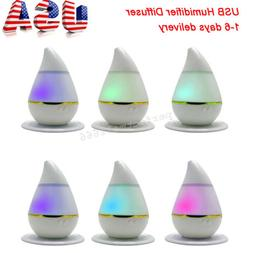 Mini USB Charger Air Humidifier LED Light Essential Oil Arom