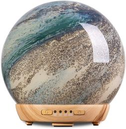COOSA Moon Essential Oil Diffuser, Glass Cool Mist Humidifie