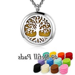 YOUFENG Essential Oil Necklace Diffuser Family Tree Life Nec