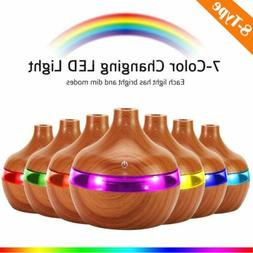 Oil Aroma Diffuser Aromatherapy LED Essential Ultrasonic Hum