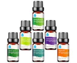 Pursonic 100% Pure Essential Aromatherapy Oils Gift Set-6 Pa