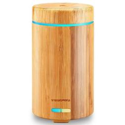URPOWER Real Bamboo Essential Oil Diffuser Ultrasonic Aromot