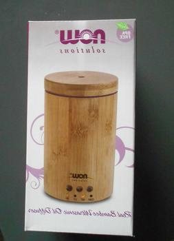 Now Solutions Real Bamboo Ultrasonic Oil Diffuser NEW