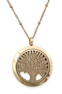 Rose Gold Family Tree of Life 316L Stainless Steel Essential