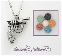 Small Gun Aromatherapy Essential Oil Necklace Diffuser with
