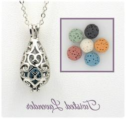 Small Teardrop Essential Oil Aromatherapy Necklace Diffuser
