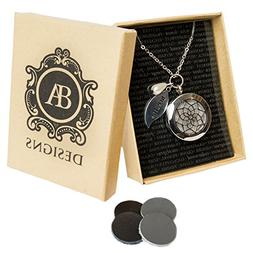 Stainless Steel Essential Oil Diffuser & Aromatherapy Locket