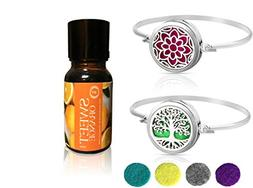 Tree of Life & Lotus with Sweet Orange Aromatherapy Essentia