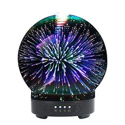 Ultrasonic 3D Glass Aromatherapy Essential Oil Diffuser, Coo