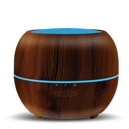 Ultrasonic Aromatherapy Dark Brown Essential Oil Diffuser Co
