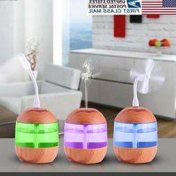 US STOCK USB oil Diffuser 700ml Ultrasonic Humidifier with L
