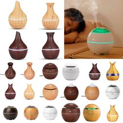 USB Humidifier Purifier Aroma Essential Oil Cool Mist LED Di