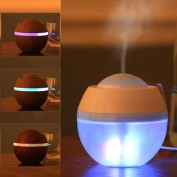 USB LED Ultrasonic Air Humidifier Essential Aroma Oil Diffus