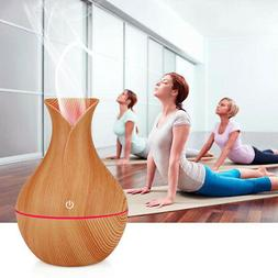 USB Wood Grain Ultrasonic Aromatherapy Humidifier Essential