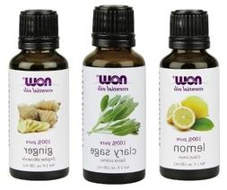 3-Pack Variety of NOW Essential Oils: Refresh Yourself - Lem