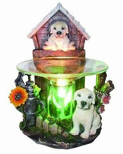 VCS White Dog Poly Resin Electric Tart/Oil Warmer with Dimme