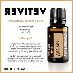 doTERRA Vetiver Essential Oil 15ml New Authentic Sealed FREE