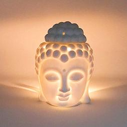 Moylor Ceramic Buddha Head Essential Oil Burner and Tea Ligh