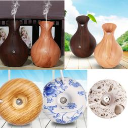 Wooden Essential Oil Diffuser Wood Cool Mist Aromatherapy Hu